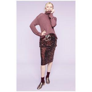Halogen Pailette Sequin Pencil Skirt